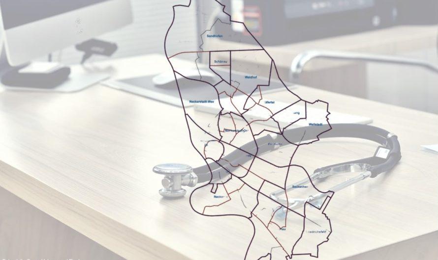 Verteilung Arztpraxen auf die Mannheimer Stadtteile