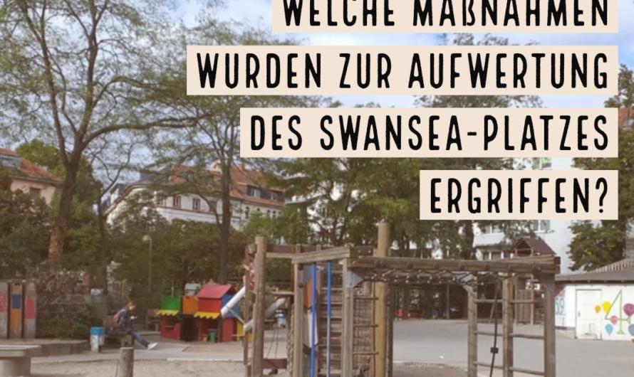 Auf dem Weg zu einer ökologischen und sozial gerecht gestalteten Innenstadt: Welche Maßnahmen wurden zur Aufwertung des Swansea-Platzes ergriffen?
