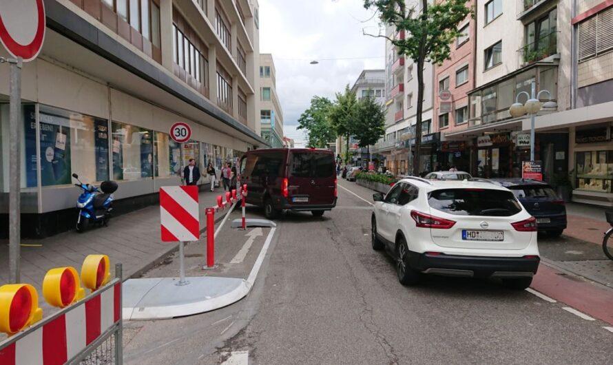 Sperrung Fressgasse und Kunststraße nicht verschieben!