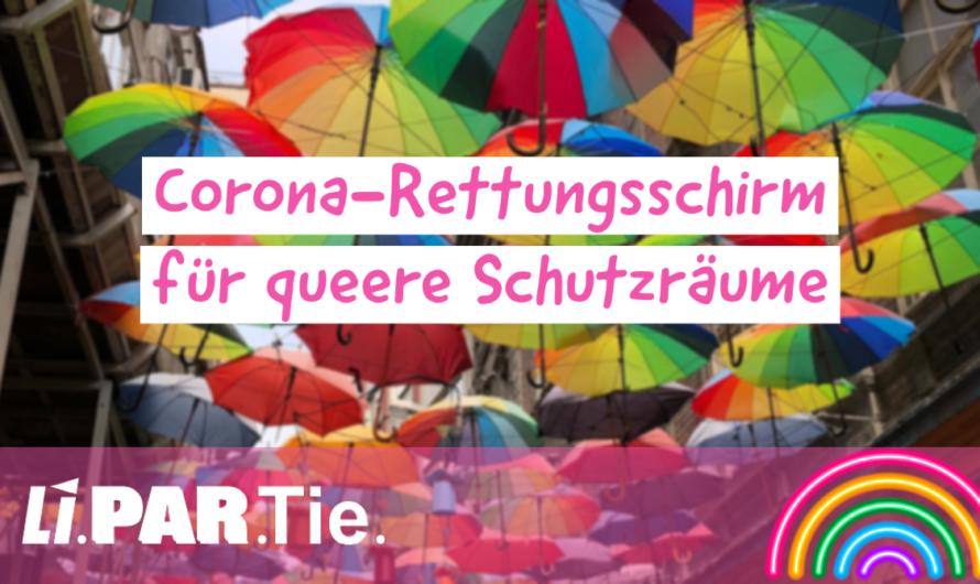 Corona-Rettungsschirm für queere Schutzräume